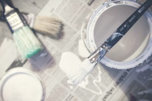 Buckets of paint for home improvement
